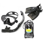 snorkeling equipment kit: snorkel, fins, mask. - Hazell's Water World - Diver Supply Barbados